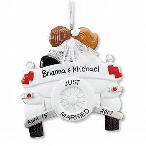 personalized just married ornament wedding gift With just married gifts honeymoon
