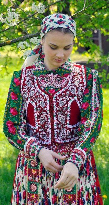 young woman wearing  traditional costume  hungary