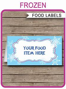 Cooking Party Invitations Frozen Party Food Labels Place Cards Winter Theme