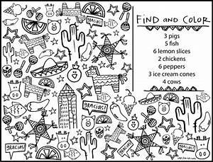 Color A Mandala Comida Mexicana - Printable Coloring Pages ...