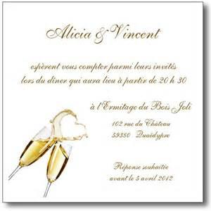 carte invitation mariage carte invitation mariage chagne magique