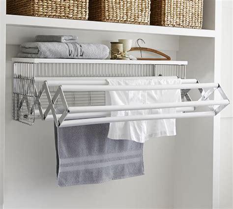 wall mounted laundry drying rack wallmount drying rack pottery barn