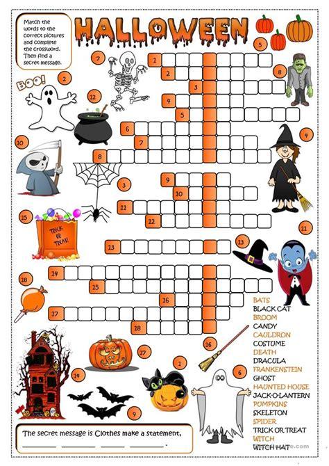 Halloween  Crossword Worksheet  Free Esl Printable Worksheets Made By Teachers