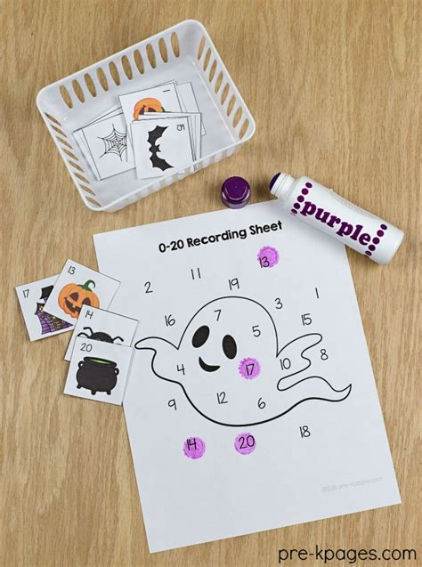 theme pre k preschool kindergarten 786 | Printable Halloween Number Game for Preschool