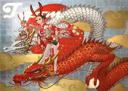 Dragon Japanese Anime Kimono Wallpapers Bunny Wallpaperaccess