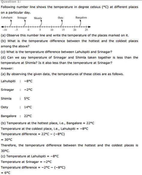 ncert class 7 maths integers worksheets maths worksheets