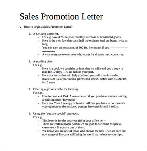 sample promotion letter   samples examples