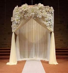 wedding ceremony draped arch decorations ceremony With wedding ceremony rental items