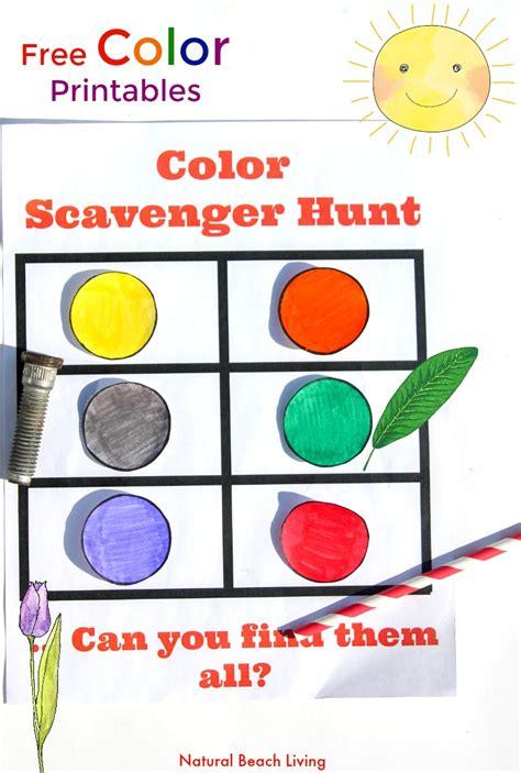 color scavenger hunt for preschoolers and toddlers 881 | color scaveger hunt preschool pin