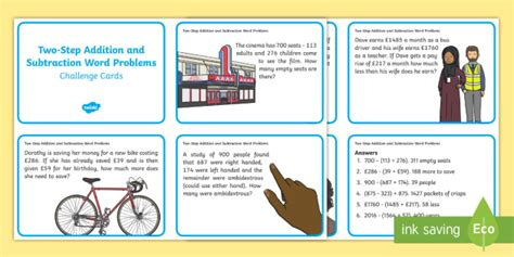 Two Step Subtraction Word Problems   Subtraction, Word