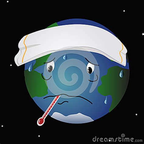 sick planet earth stock image image