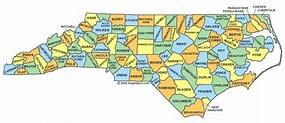 North Carolina County Map Region | County Map Regional City