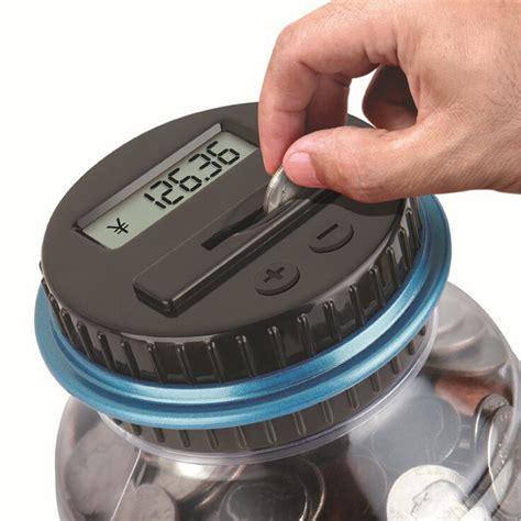 digital piggy bank electronic lcd coin money counting jar box saving safe digital piggy bank pots ebay