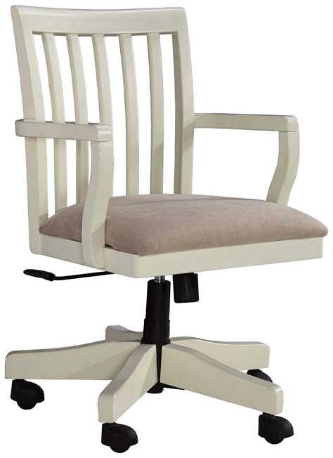 cream colored desk chair signature design by ashley savannah solid wood home office