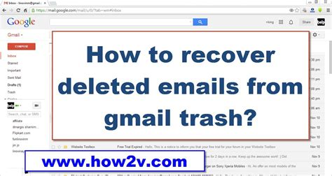 How To Recoverrestore Deleted Emails From Gmail Trash