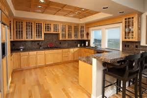 floor in 25 kitchens with hardwood floors