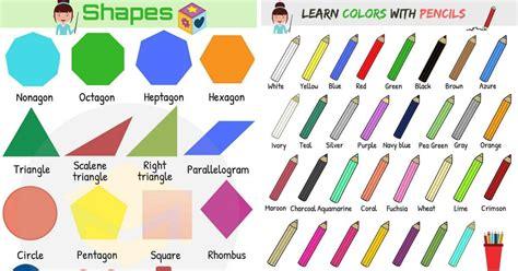 shapes  colors vocabulary  english esl buzz