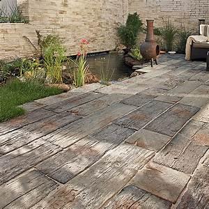 Terrassenplatten Holzoptik Beton : ehl gartenplatte naturbraun 90 x 22 5 x 5 cm stonewood ~ A.2002-acura-tl-radio.info Haus und Dekorationen