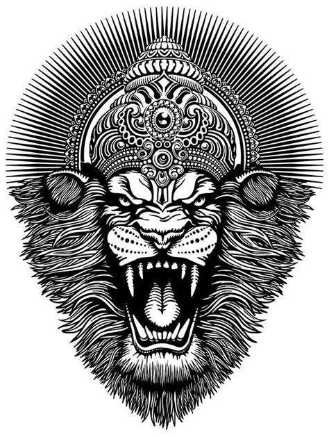 Narasimha | illustrstions | Krishna tattoo, Buddha tattoos