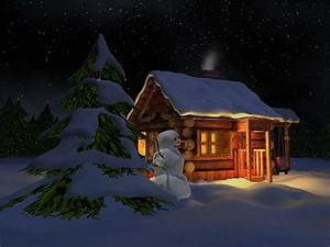 Free Christmas Desktop Wallpapers: Christmas Night House ...
