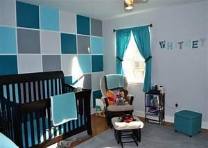 deco chambre bebe bleu petrole visuel 4 With deco chambre bebe gris bleu