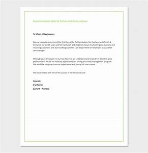 Sample Letter Of Recommendation For Masters Program From Employer Recommendation Letter For Graduate School From Employer