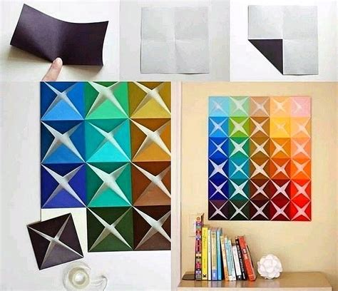ide  membuat hiasan dinding kamar  kertas origami