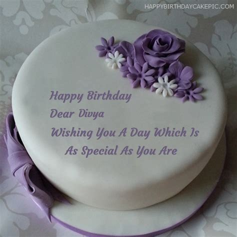 Find the perfect birthday cake stock photos and editorial news pictures from getty images. ️ Indigo Rose Happy Birthday Cake For Divya