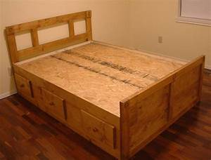 Custom Full Size And Queen Size Platform/Captain's Bed by