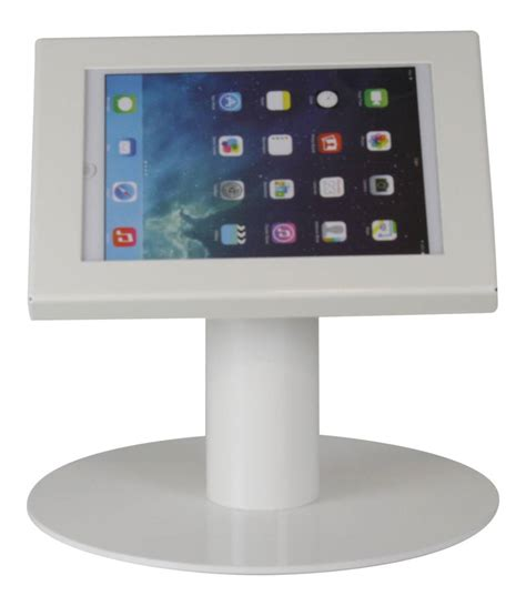 tablet stand for desk tablet desk stand securo 7 8 inch white lockable exhibishop