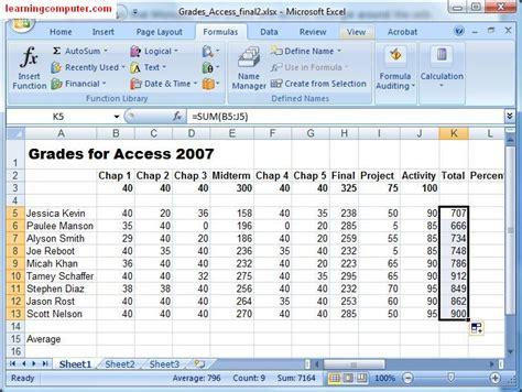 microsoft excel formulas tab tutorial