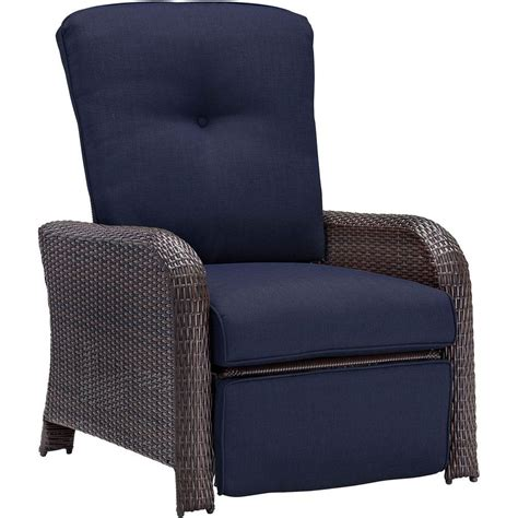 reclining outdoor lounge chair hanover strathmere all weather wicker reclining patio
