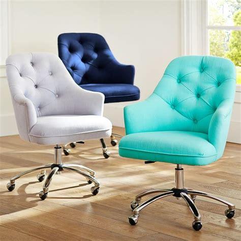 cute cheap desk chairs twill tufted desk chair pbteen