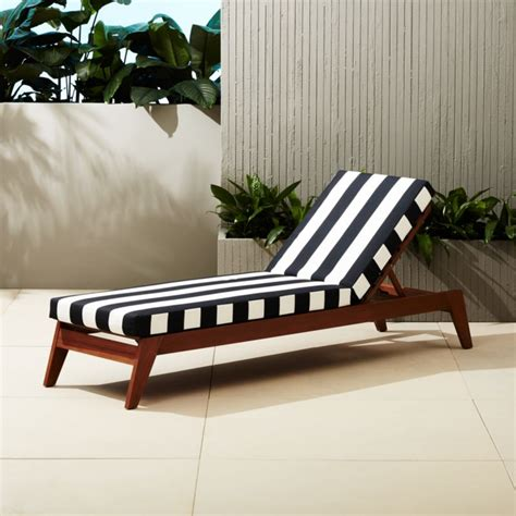 filaki black  white striped chaise lounge reviews cb
