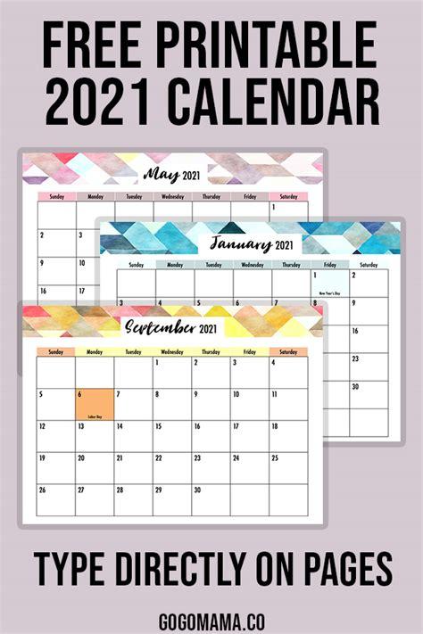 cute  printable calendars   youll love