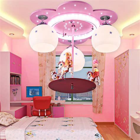 Feminine Pink Hanging Bedroom Ceiling Light Fixtures