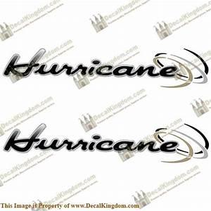 Thor Quot Hurricane Quot Rv Decals Black Grey