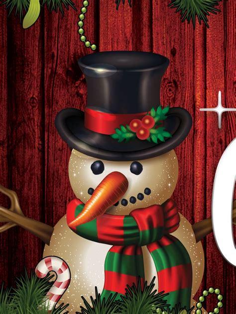Snowman Merry Christmas - Wallpaper