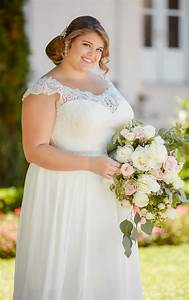 Off the shoulder lace back plus size wedding dress for Plus size off the shoulder wedding dress