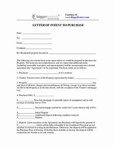 letter of intent to purchase property free printable With letter of intent to purchase property template