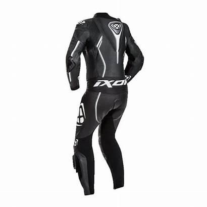 Ixon Lady Cuir Vortex Combinaison Moto Blanco
