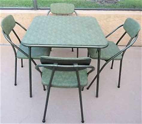 vintage stakmore folding card table 4 padded folding