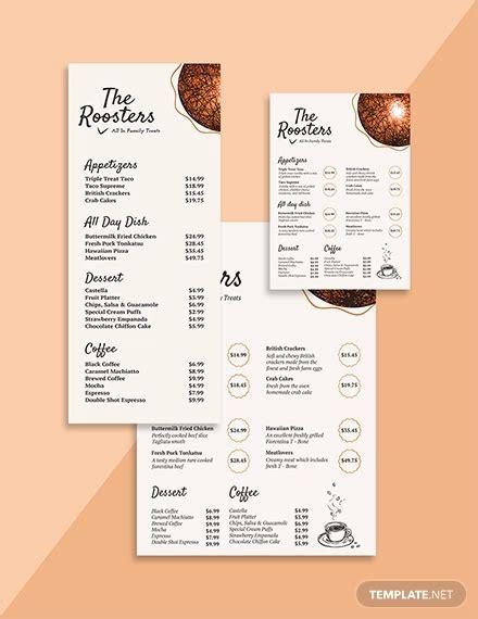 cafe menu designs ai psd docs design trends