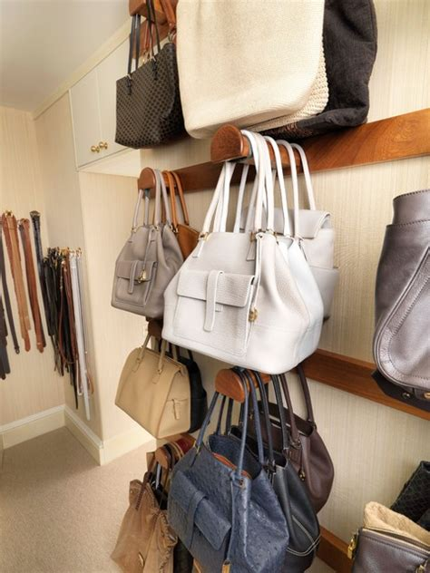 Hanging Purses In Closet by Walk In Closet With Storage For Shoes And Handbags