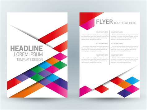 colorful flyer psd template free download flyer template design with abstract colorful bright