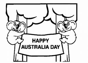 Happy Australia Day Coloring Page Coloring Page U0026 Book For