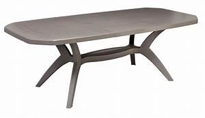 tables de jardin ibiza 165 220 cm grosfillex With table de jardin de couleur