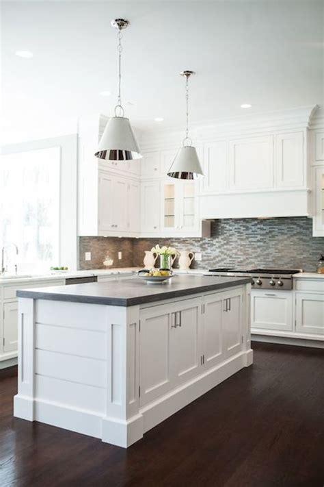 Freestanding Wood Frame Kitchen Island with Dark Gray