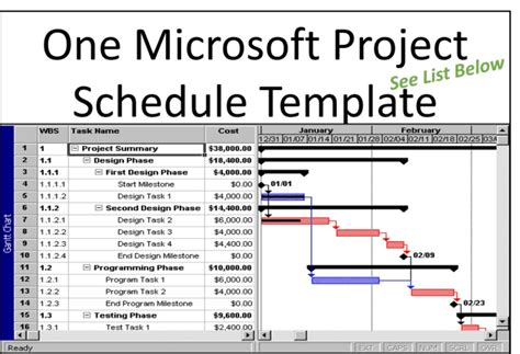 microsoft project templates provide you one microsoft project schedule template by pmconnection