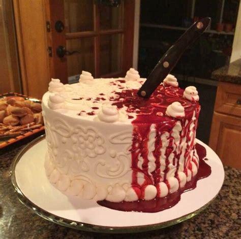halloween bloody knife cake cakecentralcom